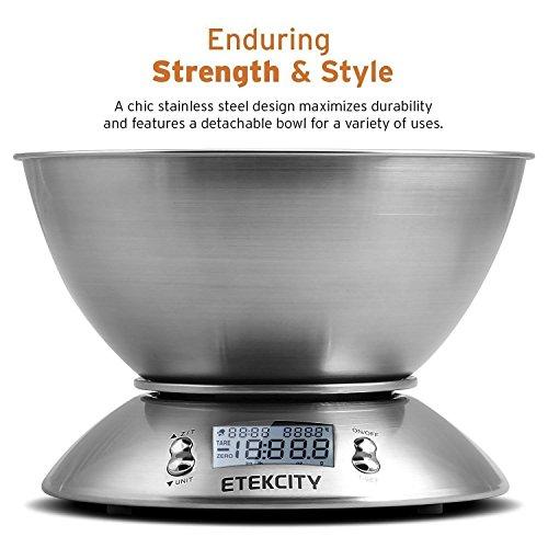 etekcity balance de cuisine electronique 5 kg 1g en acier inox avec grand ecran r tro clair. Black Bedroom Furniture Sets. Home Design Ideas