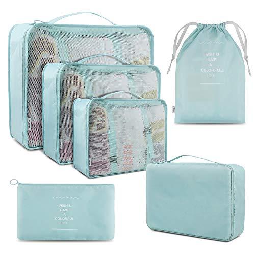 Organizzatori di viaggio, Cubi di Imballaggio lavanderia sacchetto dei bagagli Compressione...