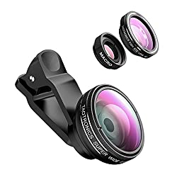 Kaufen TaoTronics TT-SH014 Fisheye Objektiv Clip-On Kamera Adapter für Smartphones (180 Grad Fisheye Objektiv, 10x Macro Objektiv, 0,4x Weitwinkelobjektive)