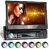 "XOMAX XM-D749 Autoradio mit 18 cm / 7"" Touchscreen I DVD, CD, USB, AUX I RDS I Bluetooth I Anschlüsse für Rückfahrkamera, Lenkradfernbedienung und Subwoofer I 1 DIN"