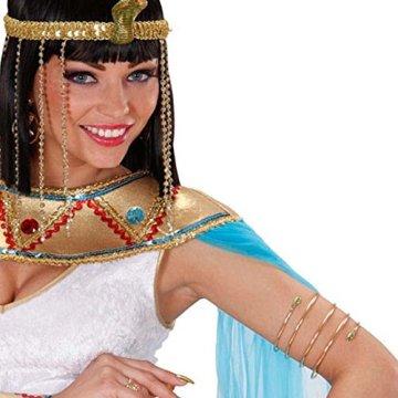 Pulsera en forma de serpiente de Cleopatra oro egipto joyas de la reina antigua diosa oriental 3