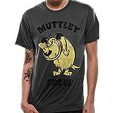 Wacky Races T-Shirt da Uomo di Cartone Ufficiale di Muttley Crew - Crew Neck