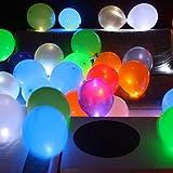 Trendario LED leuchtende Luftballons - Partydeko für deine nächste Party! Diese hochwertigen Luftballons machen die Nacht zum Tag. Besonders schön kommen sie bei voller Dunkelheit zur Geltung.DerHit für jede Party. Einfach am Mundstück den Papiersti...