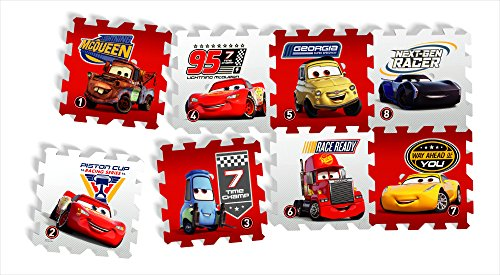 Knorrtoys 21013-Tappeto Puzzle-Cars-Race of a Lifetime 8Tappetini (16Pezzi)