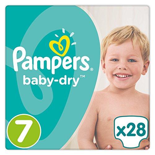 Pannolini Pampers Baby-Dry, taglia  7(17+ kg), confezione da 1 (1x 28pezzi)