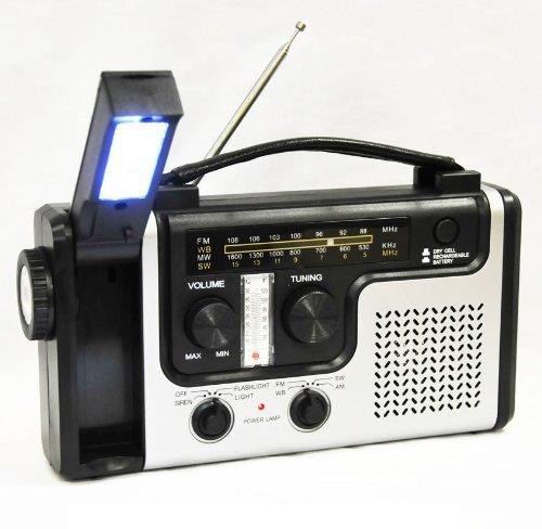 topAlert Emergency Solar Hand Crank Dynamo AM/FM/NOAA Weather Radio Flashlight Reading LED Light Cell Phone Charger w/ USB adaptor
