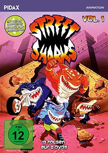 Street Sharks, Vol. 1 / Die ersten 13 Folgen der Zeichentrickserie mit beiden deutschen Synchronfassungen (Pidax Animation) [2 DVDs]
