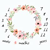 mensuel Milestone Couverture de bébé Photo Props Fond de pousses, réutilisable Infant bébé Couverture enveloppante pour la Photographie