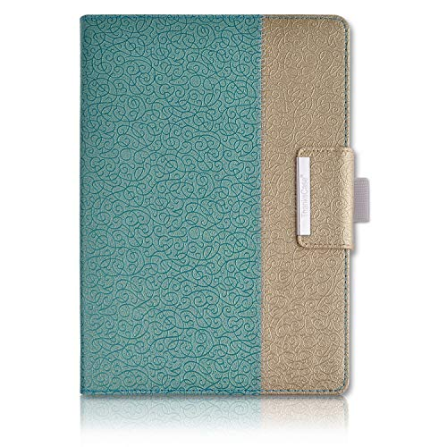iPad Air 2 Case,Thankscase Rotating Case Cover for Ipad iPad Air 2 with Wallet Pocket with Hand Strap with Auto Sleep / Wake for iPad Air 2 2014.(Gold Jade)