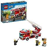 LEGO City - Camión de Bomberos con Escalera, Juguete de Construcción para Recrear Rescates en Incendios de la Ciudad (60107)