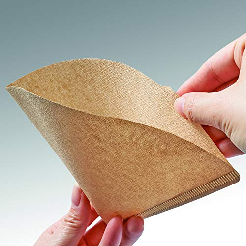 """Urban Platter V60 Natural Coffee Filter Paper, Size - 7"""" W x 5"""" H [100 Sheets, Coffee Sock, Disposable, Hario Compatible] 9"""