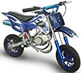 KENROD Moto Cross de Gasolina Moto Cross Mini Moto dos tiempos Motocross de 47CC Color Azul