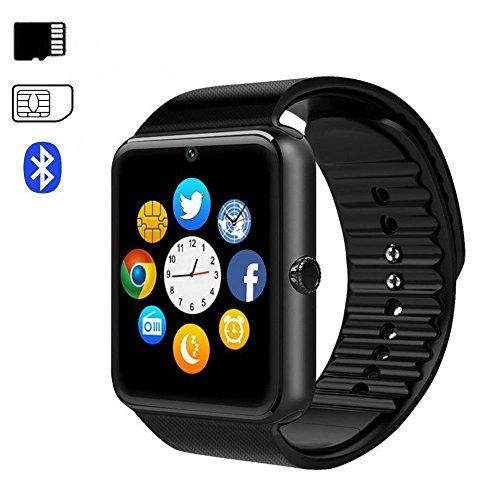 Bluetooth Smartwatch da Polso Intelligente con Telecomando Fotocamera,Lettore Musicale,SIM /TF Card...