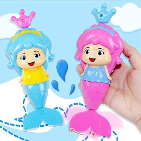 Baby-Bath-Clockwork-Toy-Mermaid-Wind-Up-Floating-Water-Toys-for-Kids-Toddlers-Swimming-Pool-Beach-Bathing-Time-Bath-Tub-Fun