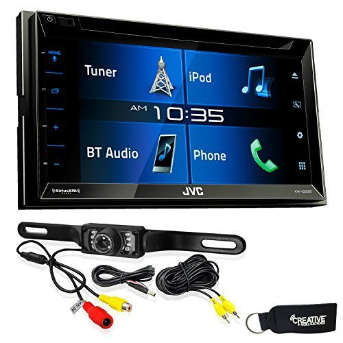 "JVC KW-V330BT 6.8"" Double DIN Bluetooth in-Dash DVD/CD/AM/FM/Digital Media Car Stereo with Rear View Camera"