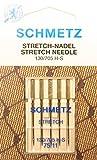 Schmetz - 5 aghi stretch per macchine da cucire (a pistone piatto) 130/705 H-S spessore 75/11