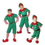 LSERVER Costumi di Natale per Adulti e Bambini Vestito per Elfi di Natale per Bambini