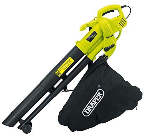Aspiradora, sopladora y trituradora Storm Force 82104, de la marca Draper, para jardín, 3000W y 230V