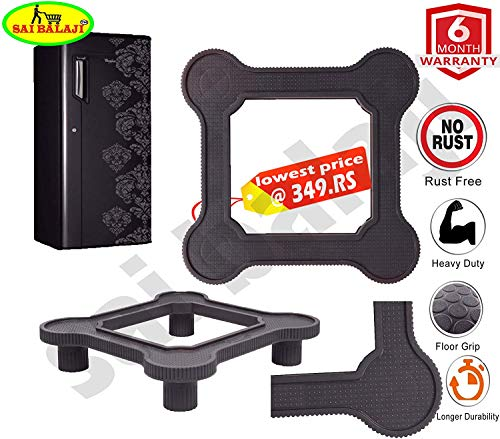 SAI BALAJI Fridge Stand/Washing Machine Stand Heavy Quality (Multi Purpose Stand) Grey Color