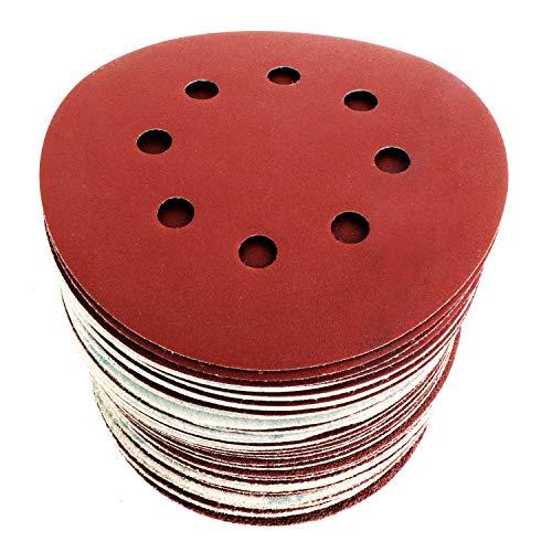 S&R Schleifpapier Set 125mm, Meister, 8 Löcher, 60St.: 10*P40, 10*P60, 10*P80, 10*P120, 10*P180, 10*P240