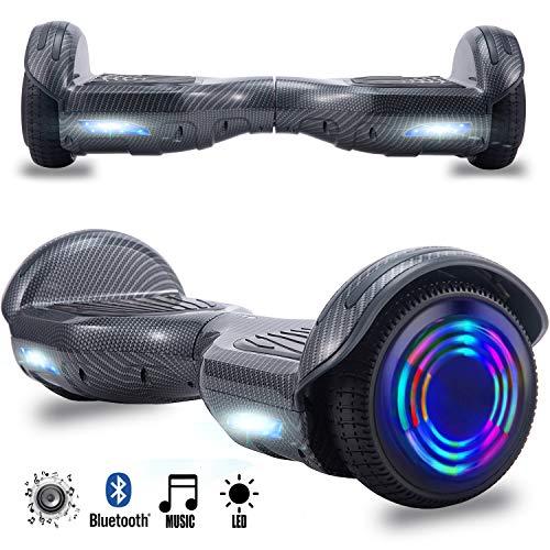 Magic Vida Skateboard Elettrico 6.5 Pollici Bluetooth Power 700W con Due Barre LED Monopattini...