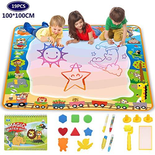 Lenbest super grande doodle tappeto magico 100CM x 100CM, doodle mat -animale, tappetino...