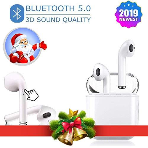 Auricolari True Wireless Bluetooth 5.0 Auricolari Custodia per Ricarica Cuffie Bluetooth Integrati a...