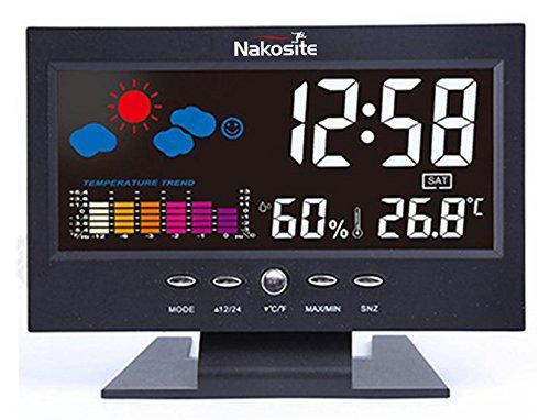 Nakosite HUM2433 Stazione meteo Igrometro digitale Termometro ambiente Temperatura e umidità....