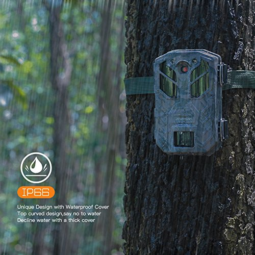 The Apeman Wildlife Trail Camera Trap comes with a 20MP camera to capture clean crisp shots. It also possesses a video resolution of 1080p which gives you the opportunity to capture high definition videos. It can record audio and video up to a maximum of three minutes which is adequate time to capture some action.