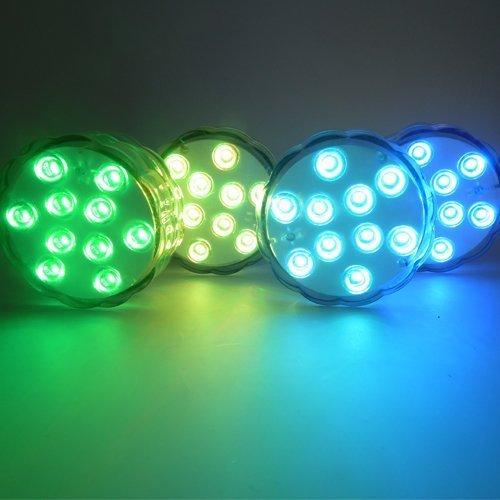 ALED LIGHT Batteria Impermeabile Powered Sommergibili Luci, LED Luci Piscina, Luci per Laghetto di...