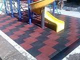 SUELOS PARA PARQUES INFANTILES suelos de caucho protector Losetas de caucho (Negro)