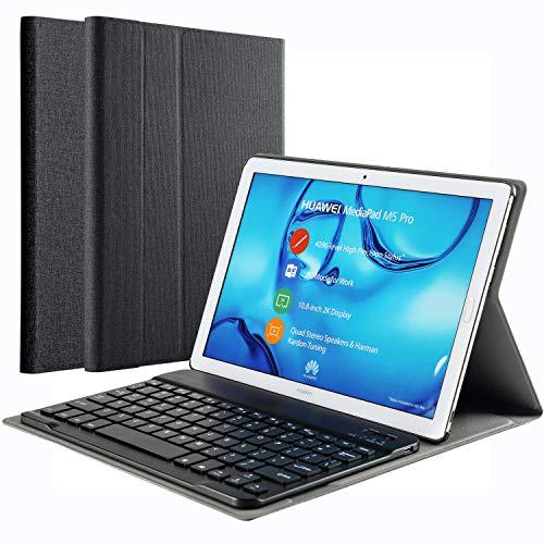 KILISON Huawei MediaPad M5 10.8 [QWERTZ Clavier] Clavier Étui Coque, Détachable Wireless Clavier Stand avec PU Case Bluetooth Housse pour Hu... 22