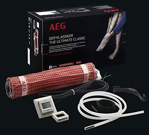 AEG THERMO BODEN, Basis-Heizmatten-Set, Heizleistung: 160W/m², Verlegefläche: 8 m², Breite: 50 cm, TBS TB 50 Set 160/8T, 234286
