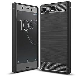 Kaufen Sony Xperia XZ1 Compact Hülle Handyhülle von NALIA, Ultra Slim Silikon Case Cover, Dünne Crystal Phone Schutzhülle, Etui Handy-Tasche Back-Cover Bumper Gummihülle für Sony Xperia-XZ1 Compact - Schwarz