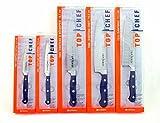 Chroma Profi Messer Set 5-teilig bestehend aus Kochmesser TD06, Santoku Messer TD15, Allzweckmesser TD02, Tranchiermesser TD05 , Schälmesser TD01 *** Sonderedition Top Chef ***