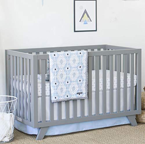 Petunia Pickle Bottom Southwest Skies 3 Piece Crib Bedding Set, Blue/Gray/White