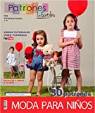 Revista patrones de costura infantil, nº 6. Moda Primavera-verano, 30 modelos de patrones con tutoriales en vídeo (youtube), ' niña, niño, bebé' Sewing instructions in English.