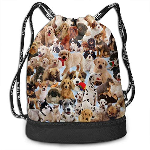 ewtretr Sacche Coulisse Zaino,Borse Sportive, Drawstring Bag Dogs Galore Shoulder Bags Travel Sport...
