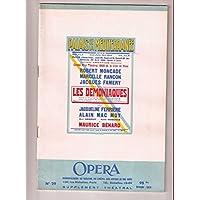 Les demoniaques piece en 3 actes - Palais de la Mediterranee 1950