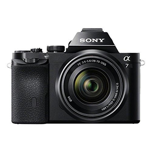 Sony Alpha 7K Kit Fotocamera Digitale Mirrorless Full-Frame con Obiettivo Intercambiabile SEL 28-70 mm, Sensore CMOS Exmor Full-Frame da 24.3 MP, ILCE7B + SEL2870, Nero