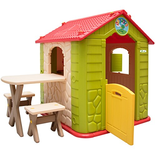 The LittleTom childrens Playhouse is a decent buy. Previous buyers have praised how sturdy this playhouse is and the ease of assembly, and we approve of that too.