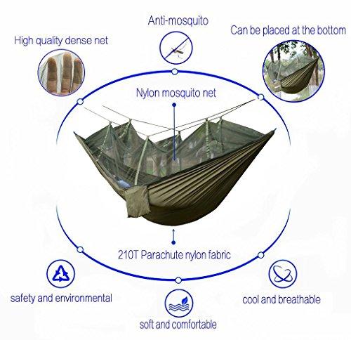 DHIDWWBBH Camping extérieur portatif moustiquaire en Nylon hamac Suspendu lit balançoire Dormir, Orange 25