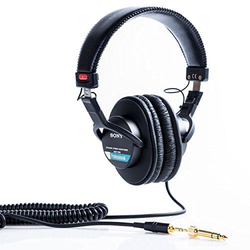 Sony MDR-7506 Cuffie Stereo, Dinamiche Professionali, Driver da 40 mm, Nero