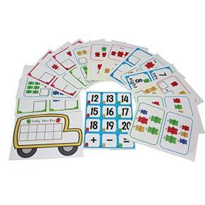 Kafen Contando Osos con Tazas Apilables - Montessori Rainbow Matching Game, Juguetes Educativos De Clasificación De Colores