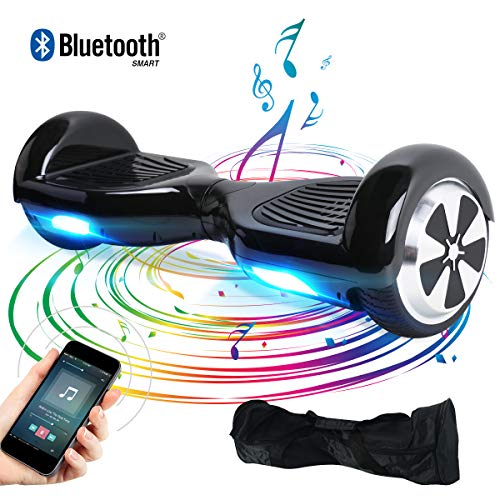 BEBK Hover Board Smart Self Balance Scooter con Bluetooth,Overboard con LED Autobilanciato Scooter...
