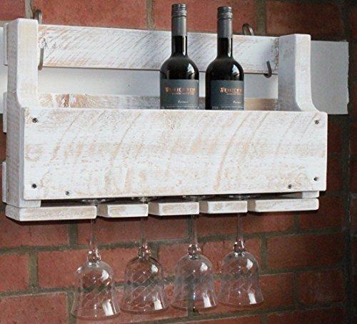 dekorie67 Cantinetta per Vino, 60 cm, Colore: Bianco