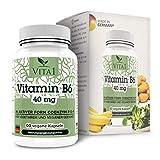 VITA1 Vitamine B6 P-5-P 40 mg • 60 gélules (alimentation 2 mois) • La Coenzyme P-5-P sous sa forme active • Fabriqué en Allemagne