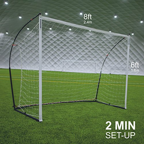 Designed for indoor and outdoor play, this 3-in-1 kit helps users develop a range of skills at a great price. With of top-of-the-range features such as weighted base and non-slip feet, plus 6 training cones, you simply get what you pay for. Users can even get access to QUICKPLAY eCOACH app and follow their exclusive training videos.