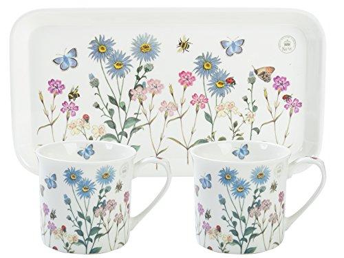 Juego de té para Dos Royal Botanical Gardens, Blanco, 3 Unidades, cerámica, Blanco, 16.8 x 30.5 x 9.5 cm