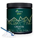 Créatine Monohydrate Vegavero Sport® | 500 g | Créatine Vegan : 100% Pure et Sans Additifs | Testée en Laboratoire | Complément Sport : Pre Workout + Prise de Masse + Définition Musculaire